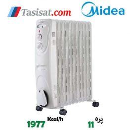 کاتالوگ رادیاتور برقی 11 پره مدیا مدل NY23EC-11L