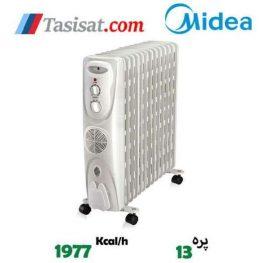 رادیاتور برقی فن دار 13 پره مدیا مدل NY23ECF-13L