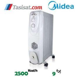 رادیاتور برقی فن دار 9 پره مدیا مدل NYEQF9
