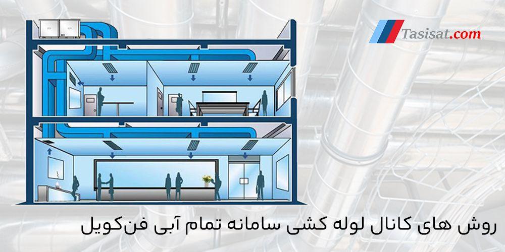 روشهای کانال لوله کشی سامانه آبی فن کویل