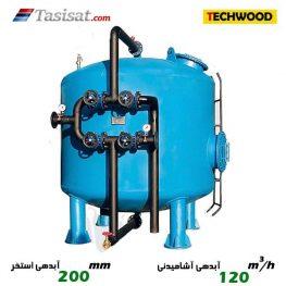 فیلتر شنی تکوود به آبدهی آشامیدنی 120