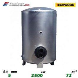 منبع کویل دار ایستاده 2500 لیتری تکوود TECHWOOD ورق 5