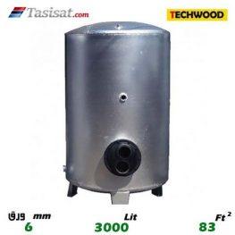 منبع کویل دار ایستاده 3000 لیتری تکوود TECHWOOD ورق 6