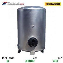 منبع کویل دار ایستاده 3000 لیتری تکوود TECHWOOD ورق 8