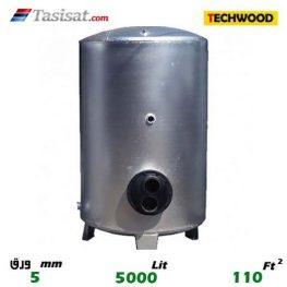 منبع کویل دار ایستاده 5000 لیتری تکوود TECHWOOD ورق 5