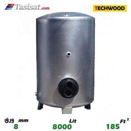 منبع کویل دار ایستاده 8000 لیتری تکوود TECHWOOD ورق 8