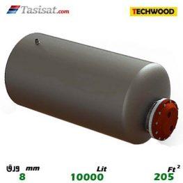 منبع کویل دار افقی 10000 لیتری تکوود TECHWOOD ورق 8