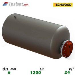 منبع کویل دار افقی 1200 لیتری تکوود TECHWOOD ورق 6