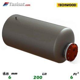منبع کویل دار افقی 200 لیتری تکوود TECHWOOD ورق 6