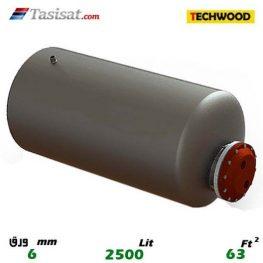 منبع کویل دار افقی 2500 لیتری تکوود TECHWOOD ورق 6