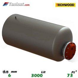 منبع کویل دار افقی 3000 لیتری تکوود TECHWOOD ورق 6