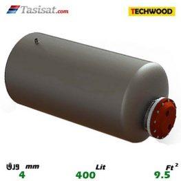 منبع کویل دار افقی 400 لیتری تکوود TECHWOOD ورق 4