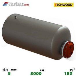 منبع کویل دار افقی 8000 لیتری تکوود TECHWOOD ورق 8