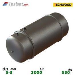 منبع دو جداره 2000لیتری 3-5 mm