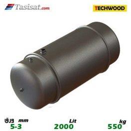 منبع دوجداره 2000 لیتری تکوود TECHWOOD ورق 3-5