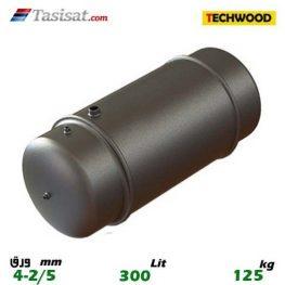 منبع دوجداره 300 لیتری تکوود TECHWOOD ورق 2/5-4