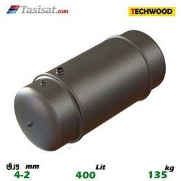 منبع دوجداره 400 لیتری تکوود TECHWOOD ورق 2-4