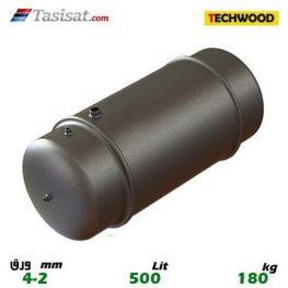 منبع دوجداره 500 لیتری تکوود TECHWOOD ورق 2-4 وزن 180