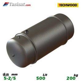 منبع دوجداره 500 لیتری تکوود TECHWOOD ورق 2/5-5