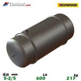 منبع دوجداره 600 لیتری تکوود TECHWOOD ورق 2/5-5