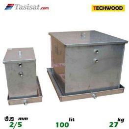 منبع انبساط باز 100 لیتری تکوود TECHWOOD ورق 2/5