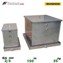 منبع انبساط باز 150 لیتری تکوود TECHWOOD ورق 2/5