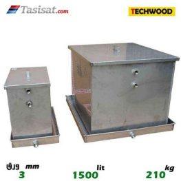 منبع انبساط باز 1500 لیتری تکوود TECHWOOD ورق 3
