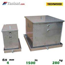 منبع انبساط باز 1500 لیتری تکوود TECHWOOD ورق 4