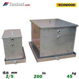 منبع انبساط باز 200 لیتری تکوود TECHWOOD ورق 2/5