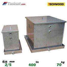 منبع انبساط باز 400 لیتری تکوود TECHWOOD ورق 2/5