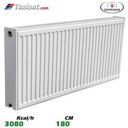 رادیاتور پانلی ایساتیس 180 سانت ظرفیت 3100 Kcal/h