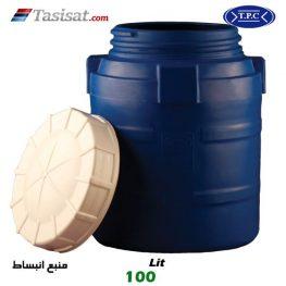 منبع انبساط پلاستیکی طبرستان 100 لیتری عمودی لایه آبی
