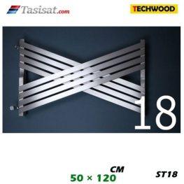 رادیاتور استیل تکوود Techwood سایز 50*120 مدل ST18