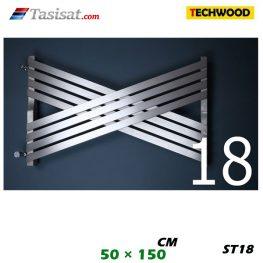 رادیاتور استیل تکوود Techwood سایز 50*150 مدل ST18
