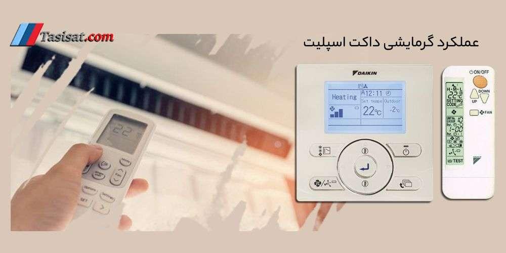 عملکرد گرمایشی داکت اسپلیت
