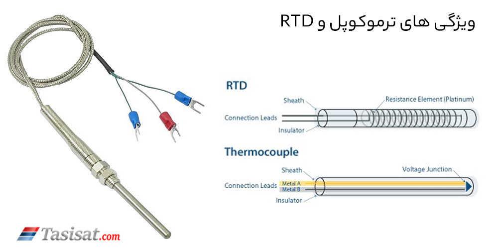مشخصات ترموکوپل و RTD