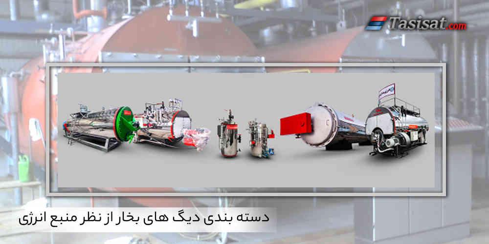 دسته بندی دیگ های بخار از نظر منبع انرژی