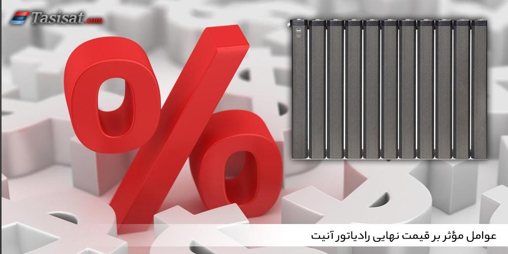 عوامل مؤثر بر قیمت نهایی رادیاتور آنیت